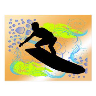 Sueños que practican surf tarjetas postales