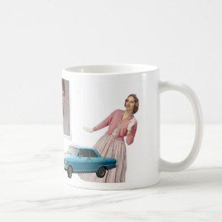 Sueños retros del día de los años 80 de las taza de café
