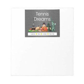 Sueños SUPERIORES del tenis Bloc De Notas