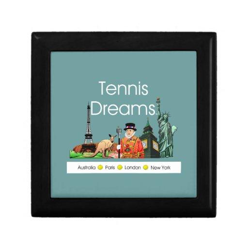 Sueños SUPERIORES del tenis Caja De Joyas