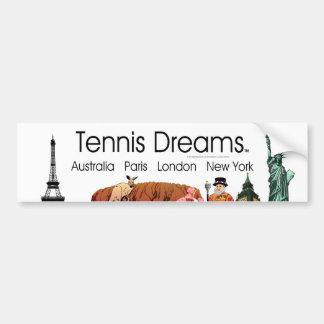 Sueños SUPERIORES del tenis Pegatina Para Auto