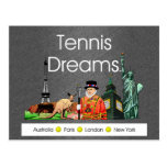 Sueños SUPERIORES del tenis Postales