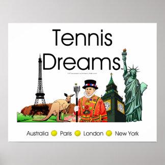 Sueños SUPERIORES del tenis Póster