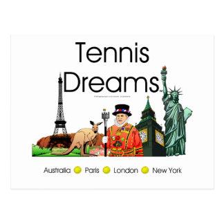Sueños SUPERIORES del tenis Tarjetas Postales
