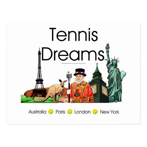 Sueños SUPERIORES del tenis Postal