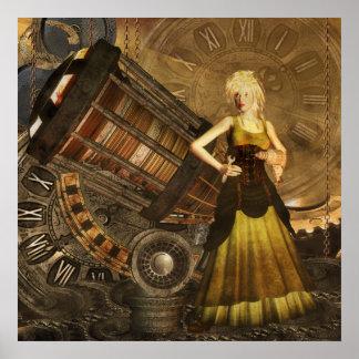 Sueños telescópicos de Steampunk - de Ceris Póster