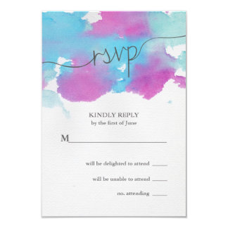 """Sueños vibrantes que casan la tarjeta de RSVP Invitación 3.5"""" X 5"""""""