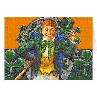 Suerte de la tarjeta de felicitación irlandesa