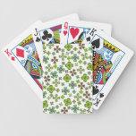 Suerte de los naipes irlandeses del trébol baraja cartas de poker
