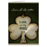 Suerte del boda irlandés tarjetas