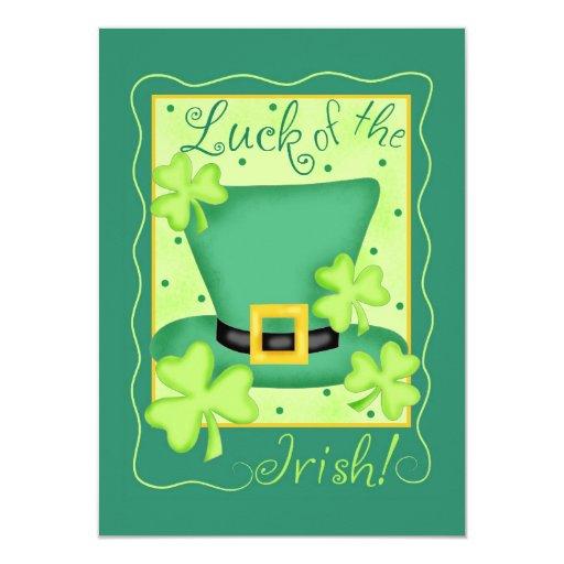 Suerte del día de St Patrick de la invitación