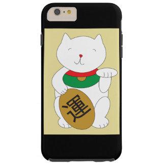 Suerte del gato de Maneki Neko y buena fortuna Funda Para iPhone 6 Plus Tough