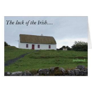 Suerte del irlandés en la tarjeta de Irlanda