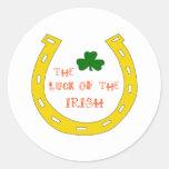 Suerte del irlandés etiqueta redonda
