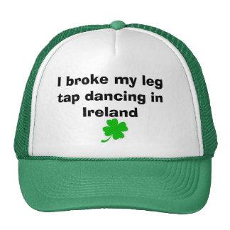 suerte del irlandés gorras de camionero