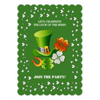 """Suerte del irlandés. Invitaciones del día de St Invitación 5"""" X 7"""""""