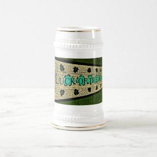 Suerte del irlandés jarra de cerveza