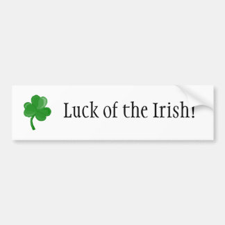 ¡Suerte del irlandés! pegatina para el parachoques Pegatina Para Auto