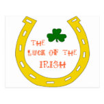 Suerte del irlandés postal