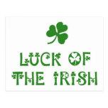 Suerte del irlandés postales
