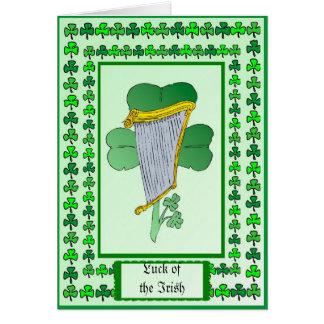 Suerte del irlandés felicitaciones