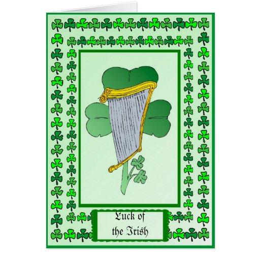 Suerte del irlandés tarjeta de felicitación