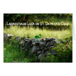 ¡Suerte del Leprechaun! - Pared de piedra vieja de Tarjeton