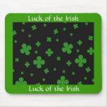 suerte del mousepad irlandés alfombrilla de raton