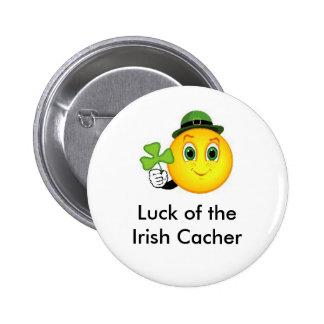Suerte del Pin irlandés del Swag de Cacher Geocach