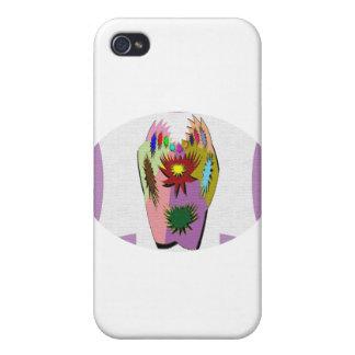 Suerte del pote - mano de póker iPhone 4 carcasas