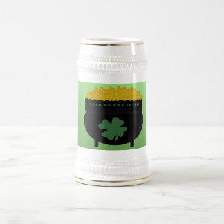 Suerte del stein irlandés jarra de cerveza