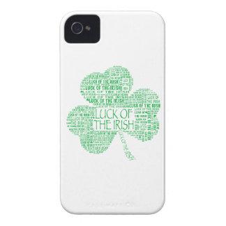 Suerte del trébol irlandés funda para iPhone 4 de Case-Mate