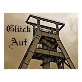 Suerte En minería tarjeta postal