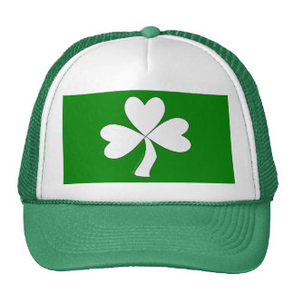 Suerte irlandesa del día de St Patrick blanco del  Gorros