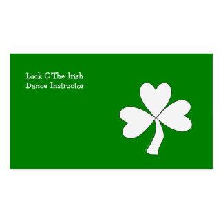Suerte irlandesa del día de St Patrick blanco del Tarjetas De Visita