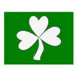 Suerte irlandesa del día de St Patrick blanco del  Postales