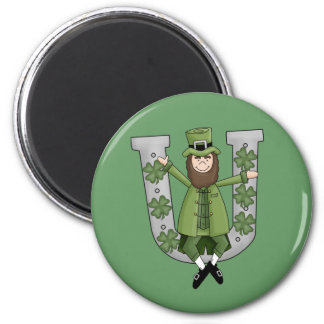 Suerte irlandesa imán redondo 5 cm