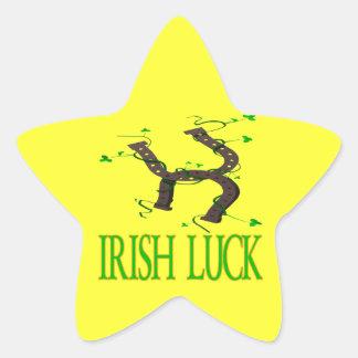 Suerte irlandesa calcomanías forma de estrella