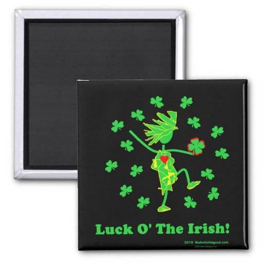 Suerte O el diseño caprichoso irlandés Iman De Nevera
