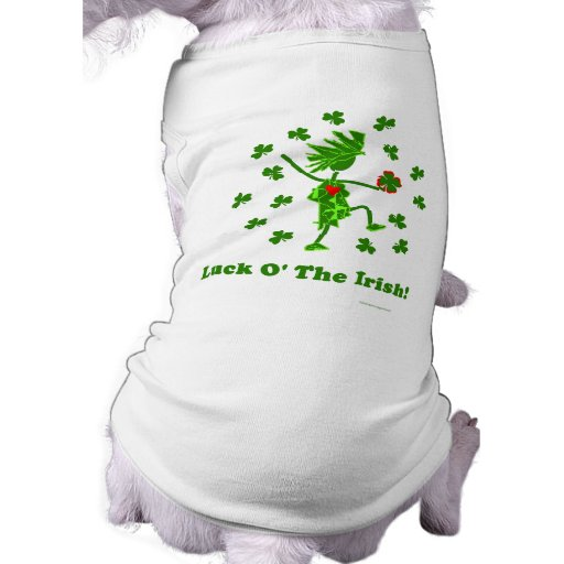 Suerte O el diseño caprichoso irlandés Camisetas De Perro