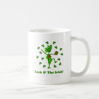 Suerte O el diseño caprichoso irlandés Taza De Café