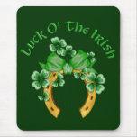 Suerte O el irlandés Alfombrillas De Ratón