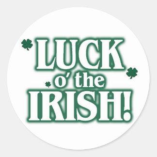 Suerte o el irlandés pegatina