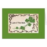 Suerte O el irlandés Tarjeta