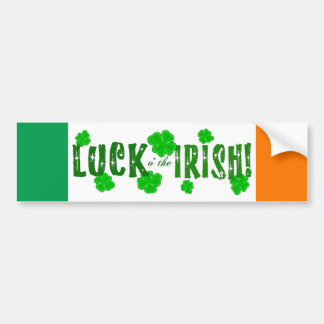 Suerte o el pegatina afortunado irlandés de siete  pegatina para auto
