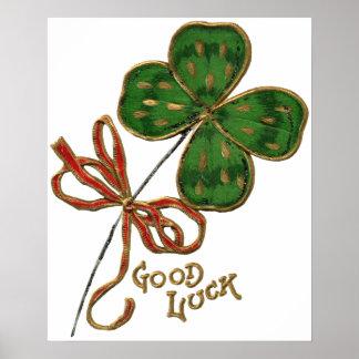 Suerte O el poster del día del St Patrick irlandés