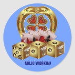 ¡Suerte rápida Mojo Workin de Mojo! Etiquetas Redondas