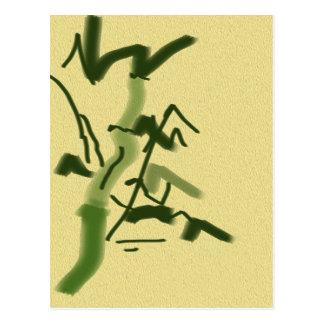 Suerte y bambú tarjetas postales