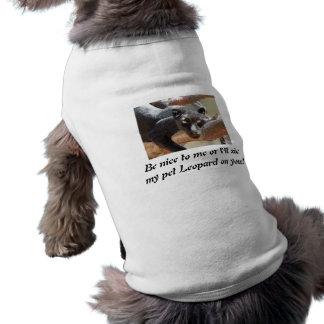 suéter animal del perro playera sin mangas para perro