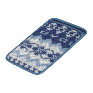 Suéter azul caliente funda  MacBook